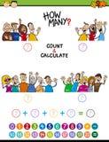 Tâche de maths pour les enfants préscolaires Images libres de droits