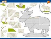 Tâche de puzzle denteux de chèvre de bande dessinée illustration stock