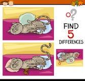Tâche préscolaire de différences Image libre de droits