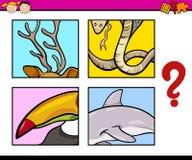 Tâche préscolaire de puzzle éducatif Photos libres de droits