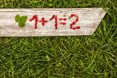 Tâche simple de maths Image libre de droits