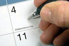 Tâmara de calendário ô julho Fotografia de Stock Royalty Free