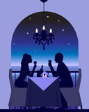 Tâmara romântica do jantar Foto de Stock Royalty Free