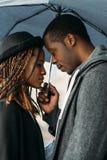 Tâmara romântica Pares pretos macios Fotos de Stock