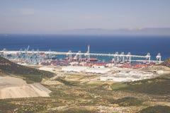 TÂNGER, MOROCCO-MAY 5,2013: Terminais de passageiro novo no porto de Fotografia de Stock