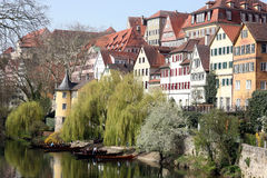 Tübingen in spring Stock Photo