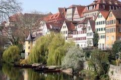 Tübingen in spring Stock Photo