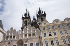 Týn Church, Prague Stock Photos