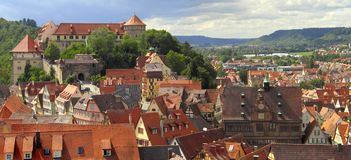 Tübingen panorama. Stock Photo