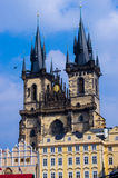 The Týn Church. In the old town square, in prague, czech republic Royalty Free Stock Images