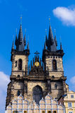 The Týn Church 2. The Týn Church in the old town square, in prague, czech republic Royalty Free Stock Photo