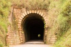 Túnel Mont Serrat - Ferrovia brusco - Santa Catarina, el Brasil Fotografía de archivo libre de regalías