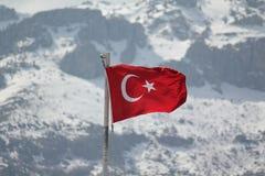 TÃ-¼rkische Flagge arkivbilder
