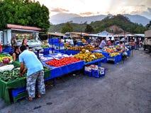 Tà ¼ rkiye Pazarı, turecczyzna rynek w Kemer, Antalya Zdjęcia Royalty Free