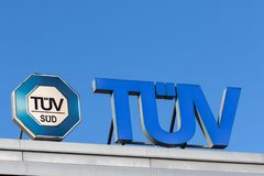 TÃœV Deutschland - Vereinigung der technischen Prüfung lizenzfreies stockbild