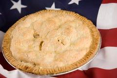 Tão americano quanto a torta de Apple Imagem de Stock Royalty Free