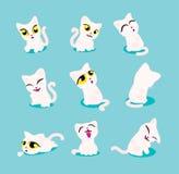 Tão bonito para que um gato alimente ilustração stock