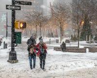 Tão frio e nevado Fotos de Stock Royalty Free