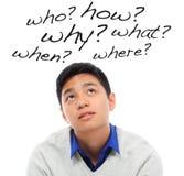 Tão muitas perguntas Fotografia de Stock Royalty Free