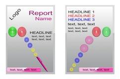 Täcka boken, silverårsrapportdesignen, broschyrgräsplandesign Röd affischdesign för reklamblad orientering rapport banermall Arkivbild