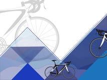 Täcka designen med en bild av cykeln Royaltyfria Bilder