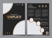 Täcka designen och baksidan av den svarta färgen med guld- beståndsdelar Royaltyfri Foto