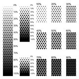 Täckande linjära lutningar i den perfektast täta ordningen vektor illustrationer