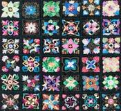 Täcke som utgöras av fyrkanter royaltyfria foton