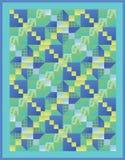 täckeyellow för blå green Arkivfoto