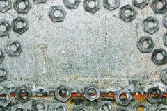 Täckt zink galvaniserade plattan för stålmetallarket med bultar Arkivfoto