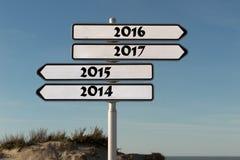 Täfeln Sie für das neue Jahr 2016 Stockbild