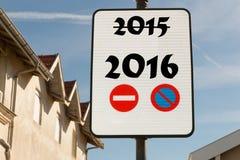 Täfeln Sie für das neue Jahr 2016 Stockfotografie