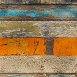 Täfelung mit verschiedenem Pale Painted Colors Stockfoto