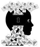 Tägliche Last von E-Mail stock abbildung