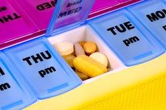 Tägliche Medikation Stockfotos