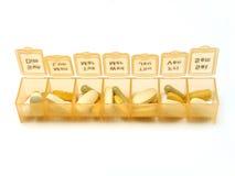 Tägliche Pillen lizenzfreie stockfotos