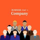 Tägliche standup Sitzung mit Projektteam und Manager Flache Illustration Geschäftsmannfirma Stockfotos