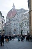 Tägliche Szenen in den Straßen von Florenz Lizenzfreies Stockbild