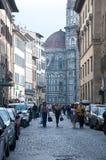 Tägliche Szenen in den Straßen von Florenz Stockfoto