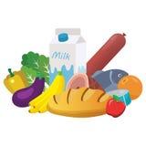 Tägliche Waren und Nahrungsmittel Stockfotos