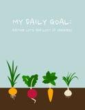 Tägliches Ziel: Essen von Veggies Stockfotos