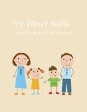 Tägliches Ziel: Verbringen Sie Zeit mit meiner Familie Stockfoto