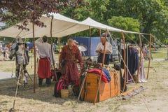 Tält av krigare Royaltyfri Fotografi