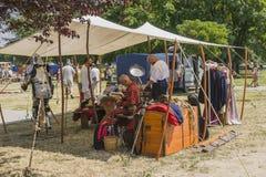 Tält av krigare Royaltyfri Foto