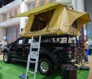 Tält för biltaköverkant Fotografering för Bildbyråer