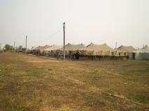 Tält för militärt läger Royaltyfri Bild