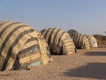 Tält i Afrika Royaltyfria Bilder