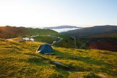 Tält i bergen Royaltyfri Bild