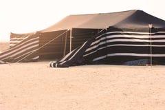 Tält i desesrten Royaltyfri Bild