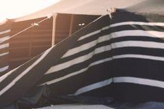 Tält i dsesrten Arkivfoto